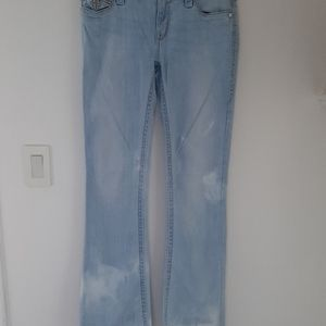ROCK REVIVAL BOOT CUT MID RISE JEANS